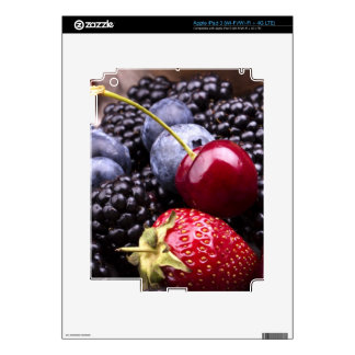 Tasty Summer Fruits On A Wooden Table Decals For iPad 3