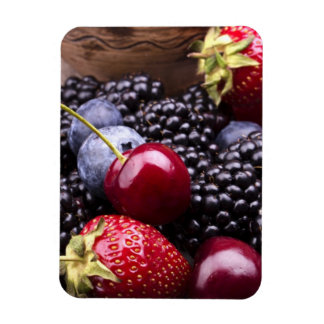 Tasty Summer Fruits On A Wooden Table Magnet