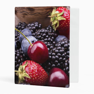 Tasty Summer Fruits On A Wooden Table Mini Binder