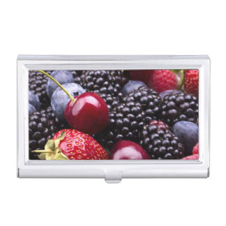 Tasty Summer Fruits On A Wooden Table Case For Business Cards