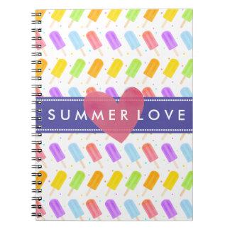 Tasty Summer Watercolour Popsicle Pattern Notebook