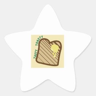 Tasty Toasty Star Sticker