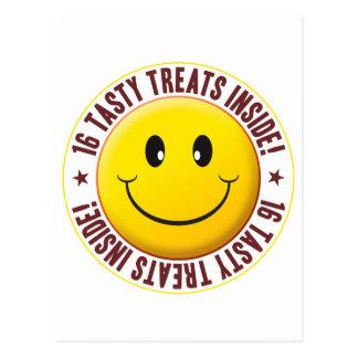Tasty Treats Smiley Postcard