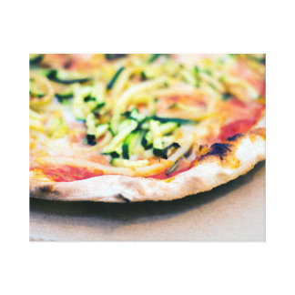 Tasty vegetable pizza canvas print