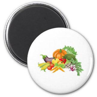 Tasty vegetables illustration magnet