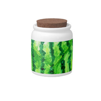 Tasty Watermelon Art2 Candy Jars