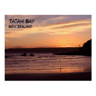 Tatahi Bay Sunset, New Zealand Postcard
