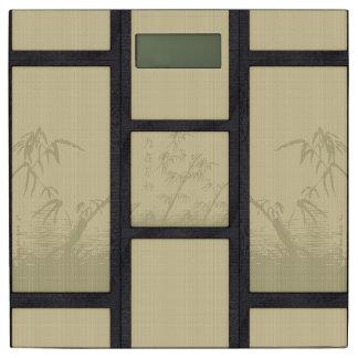 Tatami - bamboo bathroom scale
