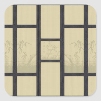 Tatami - bamboo square sticker