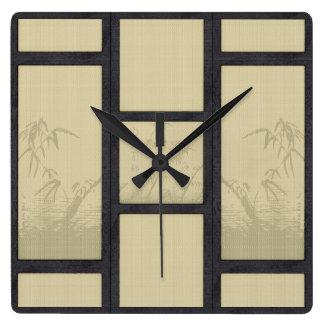 Tatami - Bamboo Square Wall Clock