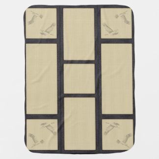 tatami - crane baby blanket