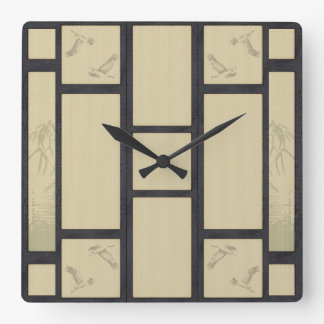 Tatami - Crane Square Wall Clock