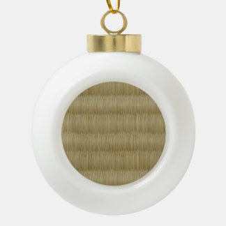 Tatami Mat 畳 2 Ceramic Ball Christmas Ornament