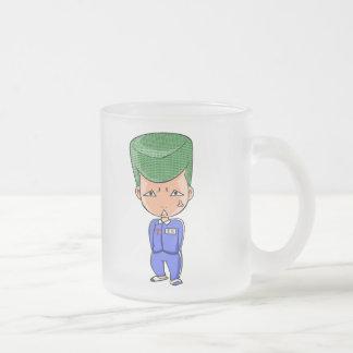 Tatami mat recent English story Kasumigaura2 Frosted Glass Coffee Mug