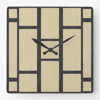 Tatami Square Wall Clock