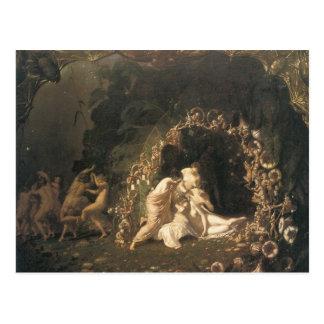 Tatania Sleeping by Richard Dadd Postcard