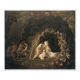 Tatania Sleeping by Richard Dadd Poster
