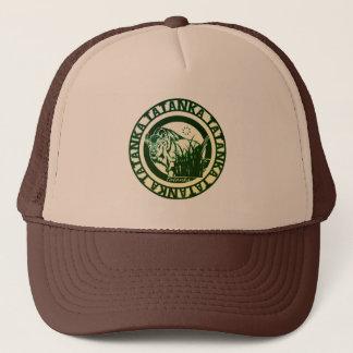 Tatanka -American Buffalo/Bison Green Leaf Trucker Hat