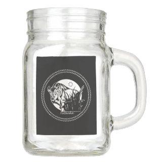 Tatanka (Buffalo) Black & White 2 Mason Jar