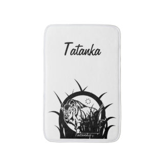 Tatanka (Buffalo) Black & White Bath Mat