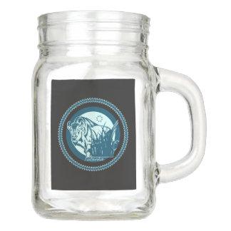 Tatanka (Buffalo) Blue 2 Mason Jar