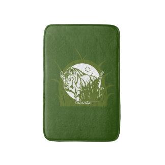 Tatanka (Buffalo) Green & White 2 Bath Mat