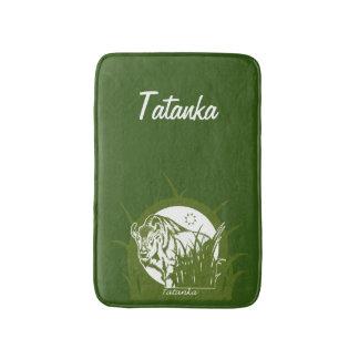Tatanka (Buffalo) Green & White 3 Bath Mat