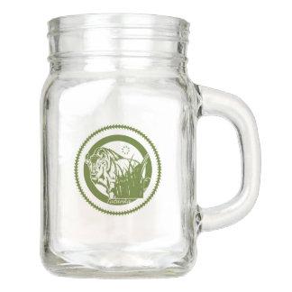 Tatanka (Buffalo) Green & White Mason Jar