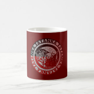 Tatanka (Buffalo) Red Black Pattern Coffee Mug