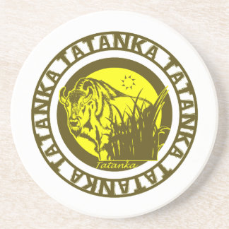 Tatanka (Buffalo) Yellow Drink Coaster