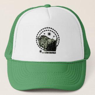 Tatanka Sun-American Buffalo/Bison Green Trucker Hat