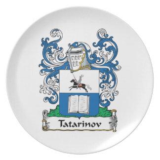 Tatarinov Family Crest Dinner Plate