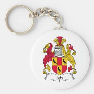 Tate Family Crest Basic Round Button Keychain