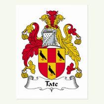 Tate Family Crest Postcard