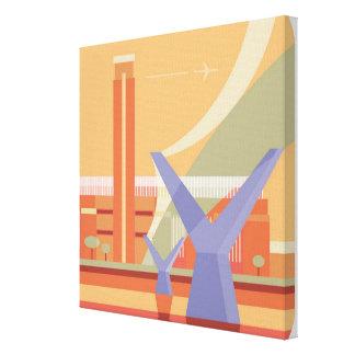 Tate Gallery and Millennium Bridge Canvas Print