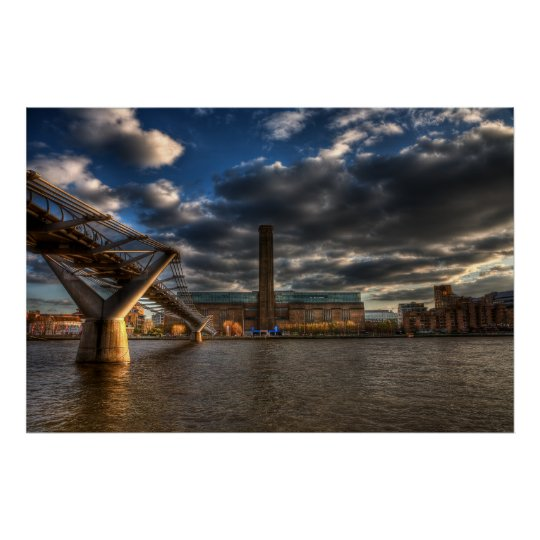 Tate Modern and Millennium Bridge Poster