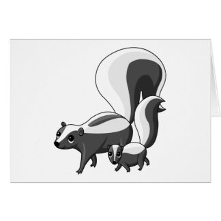 Tater and Tot the Skunks Card