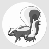 Tater and Tot the Skunks Classic Round Sticker