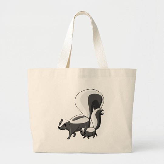 Tater and Tot the Skunks Large Tote Bag