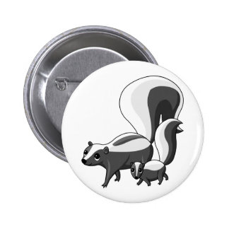Tater and Tot the Skunks Pinback Button