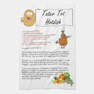 Tater Tot Hotdish Kitchen Towel