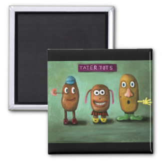Tater Tots 2 Inch Square Magnet