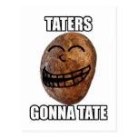 Taters Gonna Hate Postcard