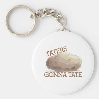 Taters Gonna Tate Basic Round Button Keychain