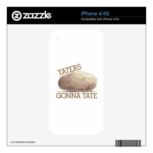 Taters Gonna Tate Decals For iPhone 4S