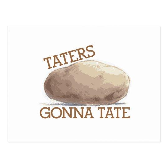 Taters Gonna Tate Postcard