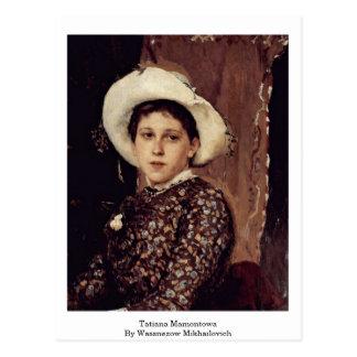 Tatiana Mamontowa By Wassnezow Mikhailovich Post Cards