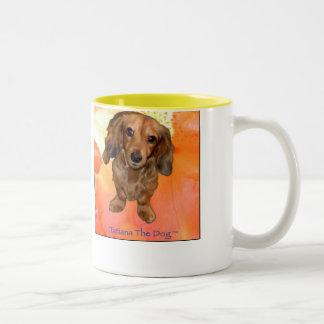 Tatiana The Dog ~ Flower Mug