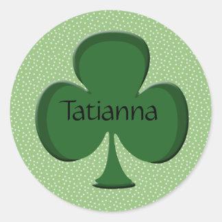 Tatianna Shamrock Name Sticker / Seal