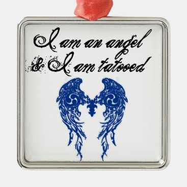 Toddler & Baby themed tatoo angel metal ornament